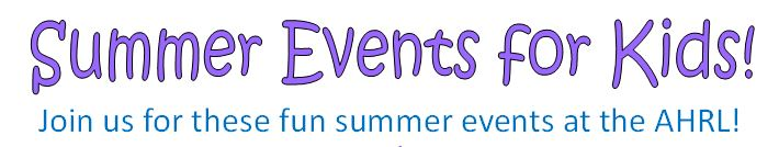 2016 Summer Events for Kids!