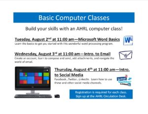Basic Computer Classes--August