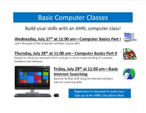 Basic Computer Classes--July