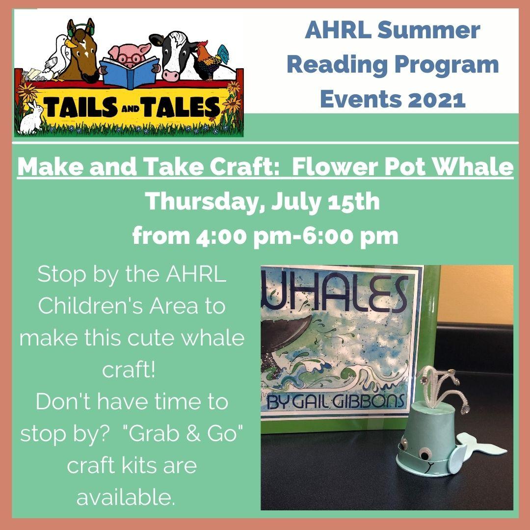 Whale flower pot craft